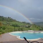 Im Mai hat es ordentlich geregnet - und dann gibt es so einen herrlichen Regenbogen.