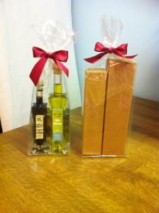 Geschenk-Duett 50 ml Aceto Balsamico und 100 ml Olio Piceno im gepolsterten Umkarton
