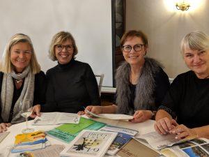 Linda, Monika, Céline und Lore - nein, wir sind nicht identisch mit den Roman-Freundinnen!